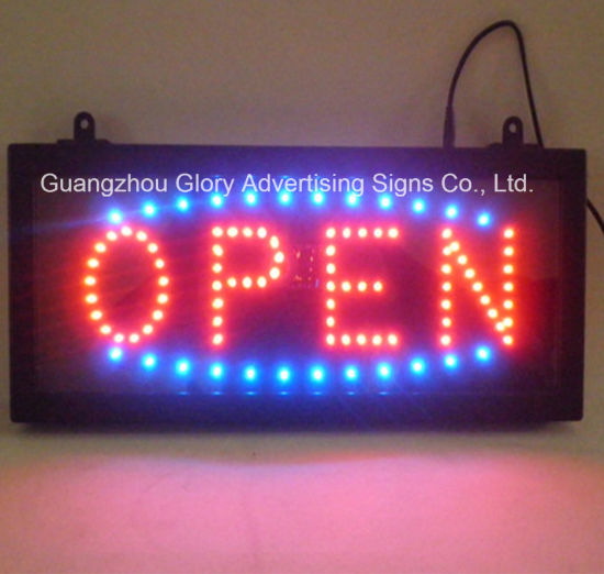 Neon Sign Display LED Open Sign /LED Animated Open Sign pictures & photos