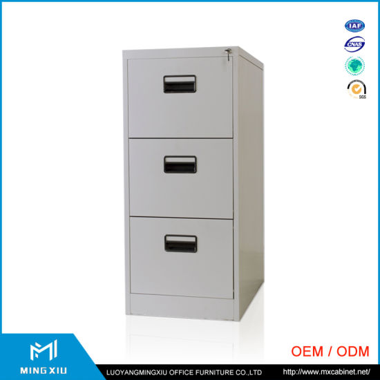 China Mingxiu Low Price Funky 3 Drawer Metal File Cabinet pictures & photos