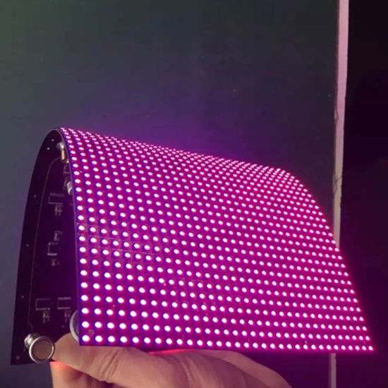 Wholesale Price Indoor SMD Full Color 256*128mm P4 Flexible Soft LED Screen Module