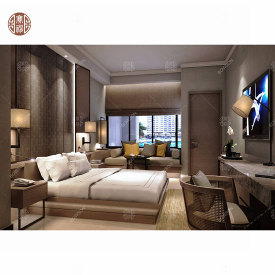 Custom Good Quality Villa Resort Style Hotel Bed Room Furniture