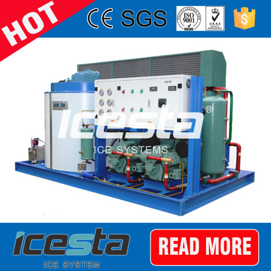 Evaporative Cooling 50 Ton Flake Ice Machine for Industry