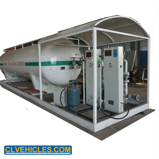 Chengli 25000L High Pressure Mobile LPG Filling Skid Cooking Gas Filling Station for Nigeria