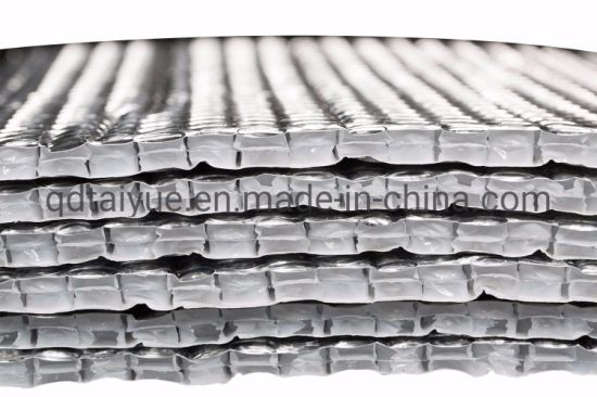 Three Layers Aluminum Foil Bubble Heat Insulation Film And Double Face