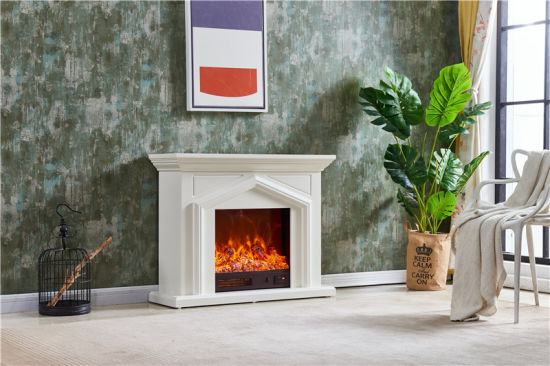 China Modern Wooden Heater Mantel Best Quality Surround Electric
