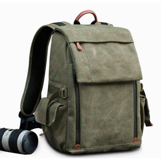 Stylish Wholesale Custom Canvas Travel Laptop Camera Backpack