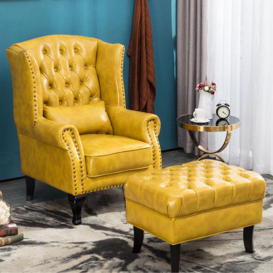 Modern Design Sofa Lounge Living Room Furniture Leather Ottoman Lounge Chair