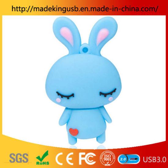 PVC Cute Rabbit USB Pen Drive/ Shy Rabbit USB Flash Drive