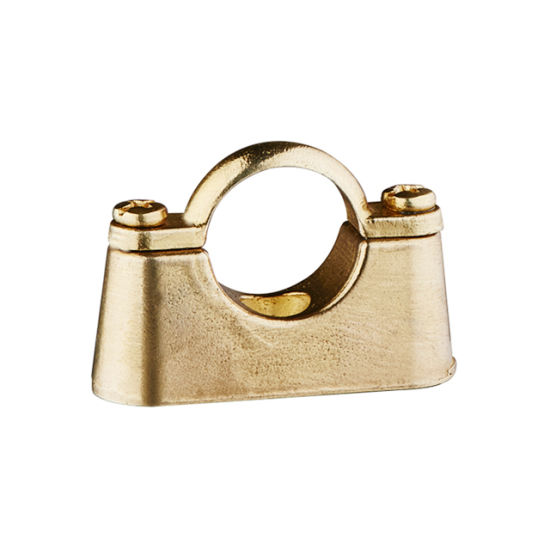 Pipe Clip Natural Brass or Chrome Plated Brass Hospital Bracket