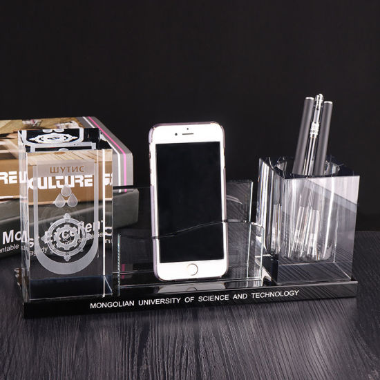 Crystal Table Name Card and Pen Holder for Table Decoration (KS25024) pictures & photos