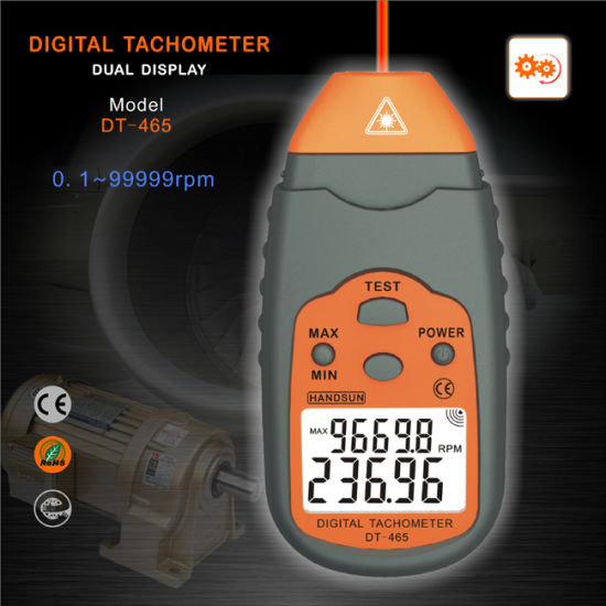 China Innovative Non-Contact Digital Tachometer (DT-465