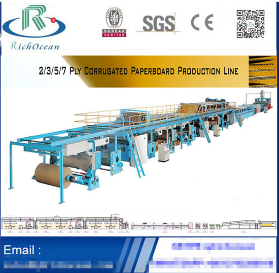 China Manufacturer 3/5/7 Ply Corrugated Cardboard Production Line