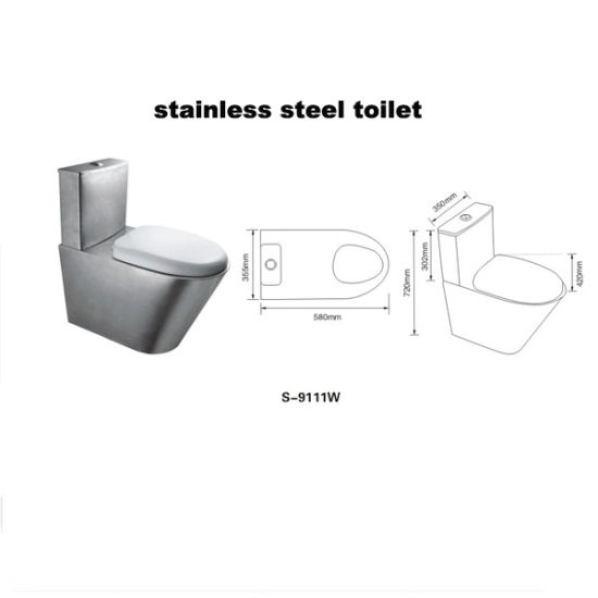 Stainless Steel Toilet (9111W) pictures & photos