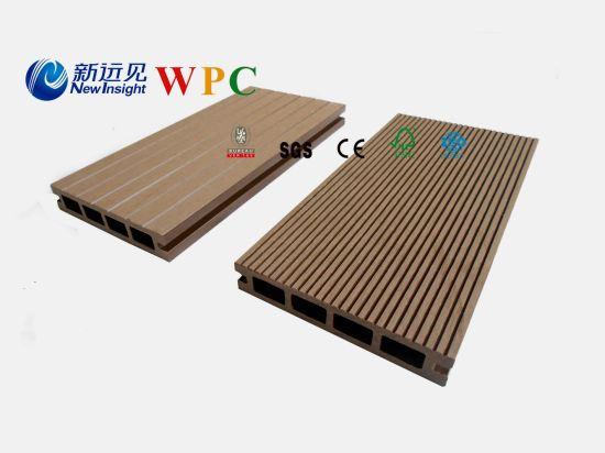135*25mm Wood Plastic Composite Decking with CE, Fsg SGS, Certificate