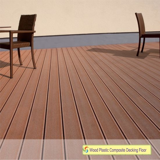 100% Recycled Hot Selling WPC Outdoor WPC Deck Coffee Color Laminate  Flooring