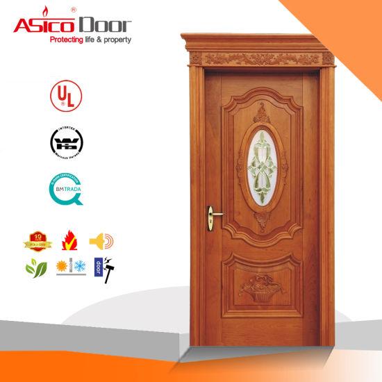 China Glass French Doormorden Design Solid Woodentimber Door With