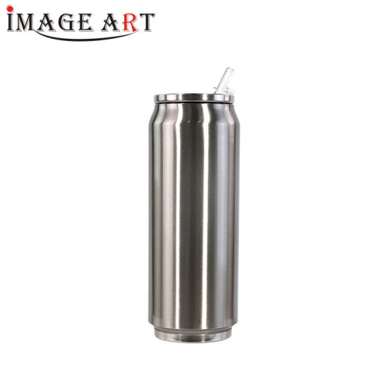 500ml Sublimation Double Wall Vacuum Cola Can Shaped Water Bottle (Silver)