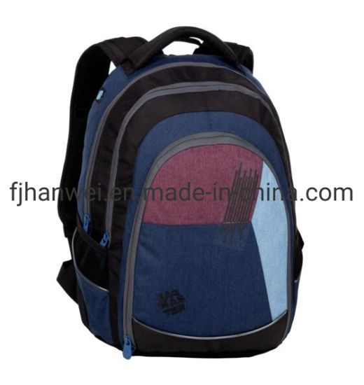 3 Compartments Leisure Laptop Polyester Backpack