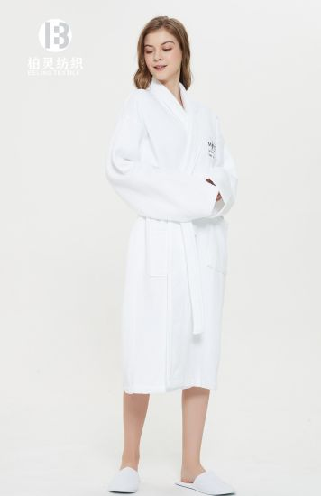 New 100/% Cotton Waffle Bath Robe Unisex Dressing Gown Luxury Kimono Style Robes