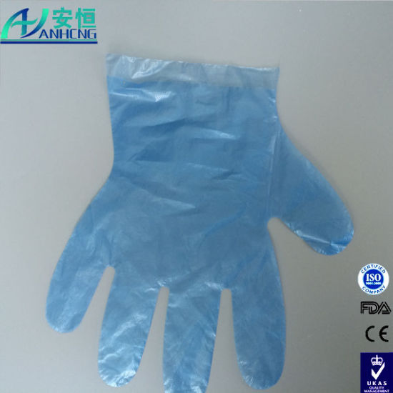 Biodegradable Transparent Disposable Surgical Poly Gloves pictures & photos