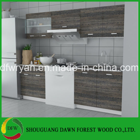 China Wenge Finish Kitchen Cabinet Unit Mini Design Modern Cupboards