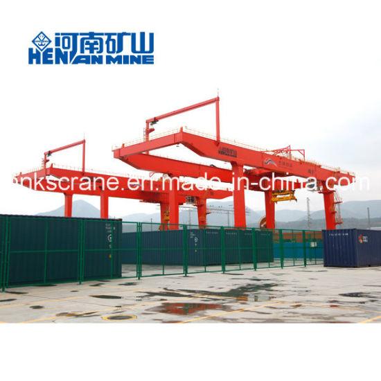 Rail Mounted Double Girder Container Gantry Crane-Mobile Container Crane