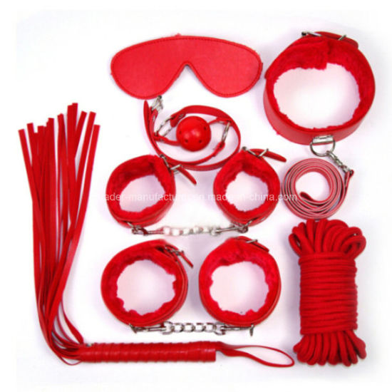 Sex Game Toys Love Restraints Leather Bondage Kits 7PCS Set pictures & photos