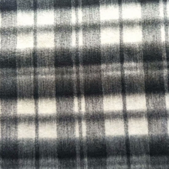 Black and White Checked Wool Fabric Woolen Fleece for Clothing Garment Fabric Apparel Fabric