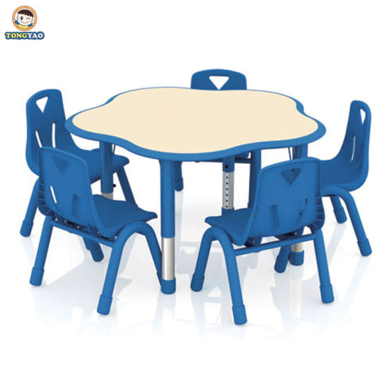 Fashionable Children Table and Chair Set Top Design Kindergarten Classroom Furniture for Kids Cute Kids Table and Chair Used