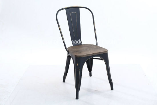 Vintage Metal Restaurant Dining Chairs