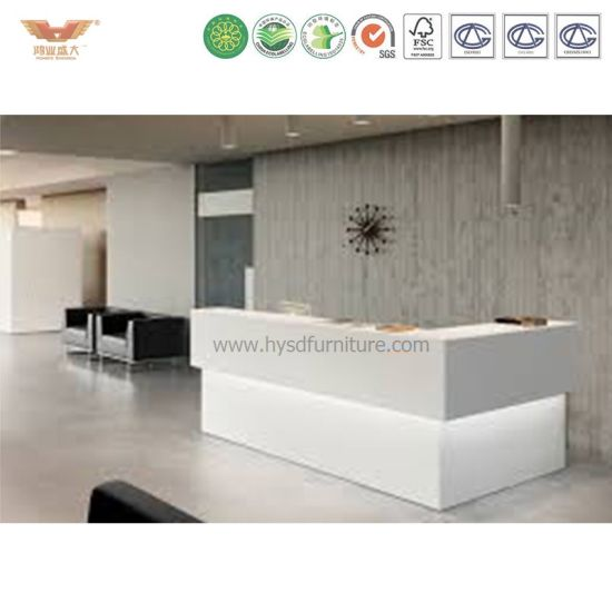 China Modern Office Reception Desk Design Curved Office Counter