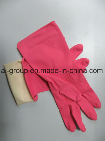 Household Waterproof Anti Acid Latex Cleaning Gloves pictures & photos