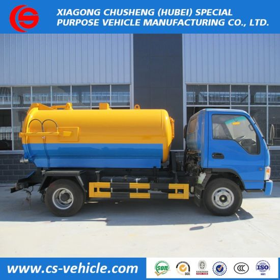 Cheap Price JAC 4X2 5000liters Sewage Vacuum Truck for Philippines