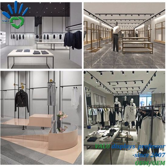 China High Quality Menswear Clothing Retail Shop Garment Store Interior Design For Clothes Display China Shop Equipment And Shop Display Rack Price