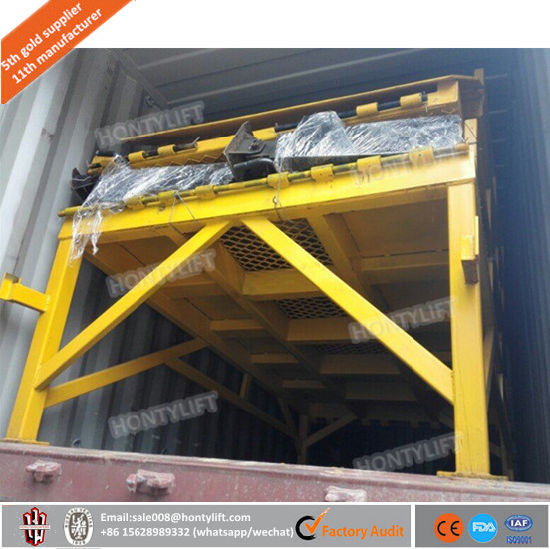Ce Portable Truck Loading Ramp Mobile Hydraulic Container Dock Loading Ramp for Forklift pictures & photos
