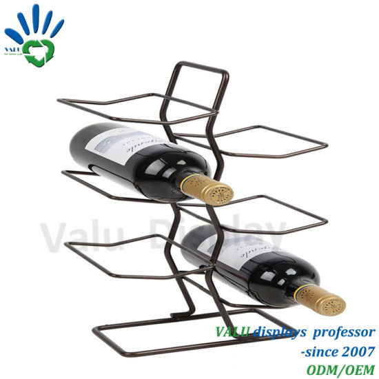 Customized Wholesale Modern Home Stackable Iron Metal Wine Rack