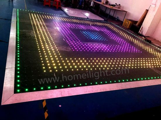 Waterproof Acrylic Starlit Video Effects RGB LED Video Dance Floor