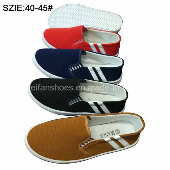 Latest Fashion Men′s Shoes Slip on Casual Canvas Shoes (MP16723) pictures & photos
