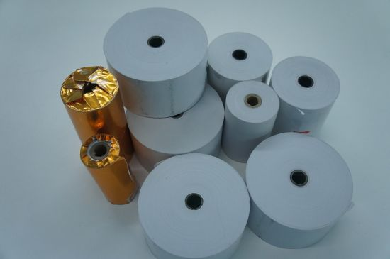 White Thermal Paper in Jumbo Reels for Bank Use ATM, POS, Cash Register pictures & photos