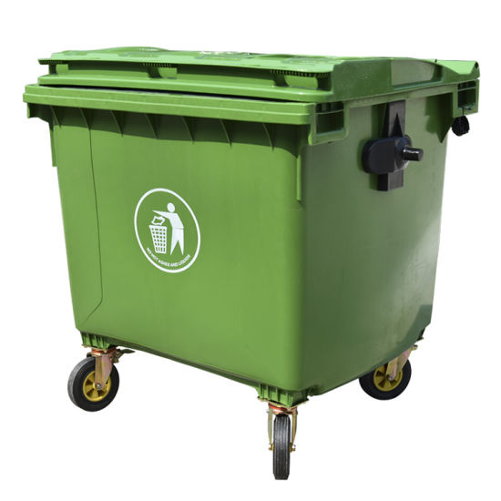 Durable Large 1100L 660L Plastic Dustbin/Waste/Garbage Bin with Outdoor/Wheel