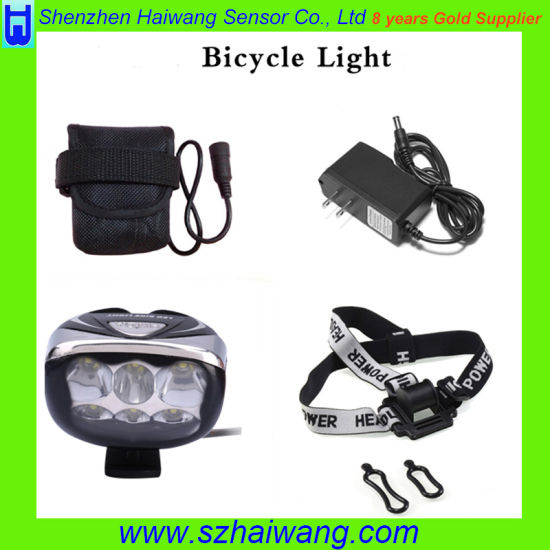 Aluminum Waterproof 6*CREE T6 3000 Lumen LED Bicycle Lights Hw-630 pictures & photos