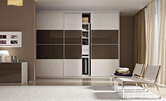 Modern Design Closet With Sliding Door For Bedroom Furniture V6 Ws001