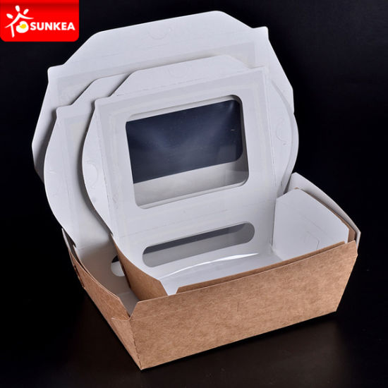 Kraft Paper Food Boxes with Clear Window