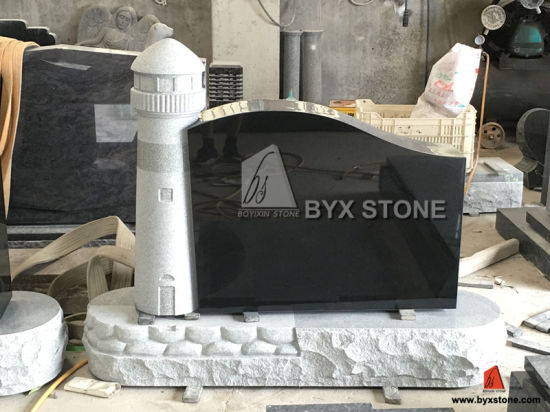 Light Grey Granite Lighthouse Carved Monument / Headstone pictures & photos