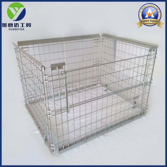Wooden Pallet Metal Wire Mesh Pallet Containers pictures & photos