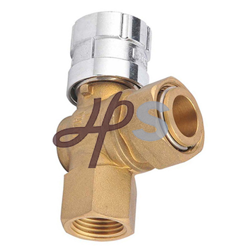 Angle Type Lockable Brass Water Meter Ball Valve with Magnetic Lock pictures & photos
