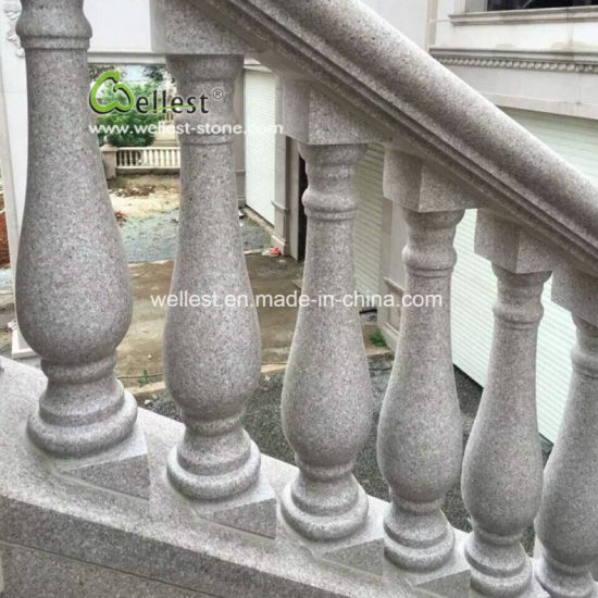 Good Price Whosale Pink Granite Balustrade for Stairs/Staircase/Balcony/Porch