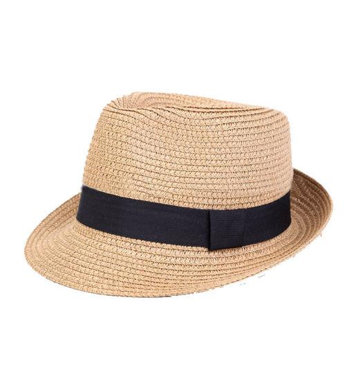 c2e8c78aa7f China Custom Mens Fedora Hat Promotional Paper Straw Hat Beach ...