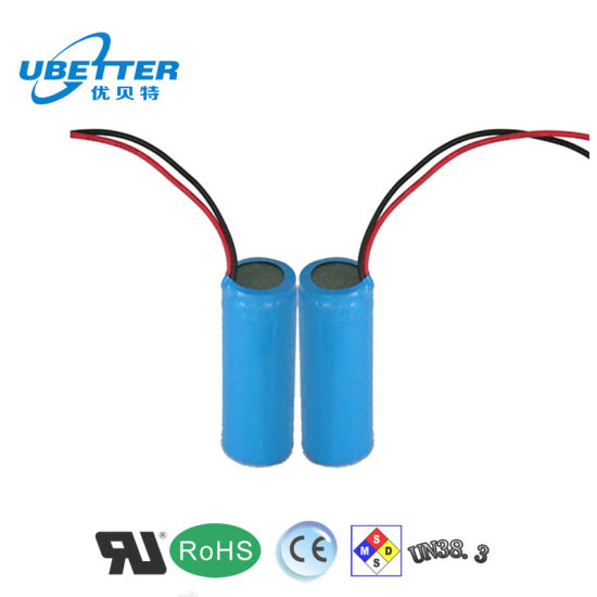 18650 3.7V 2600mAh 1s1p Lithium Battery Pack with PCB/PCM