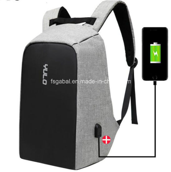 Fashion Anti-Theft Travel Laptop Computer Backpack Bag with Exteral USB Charger