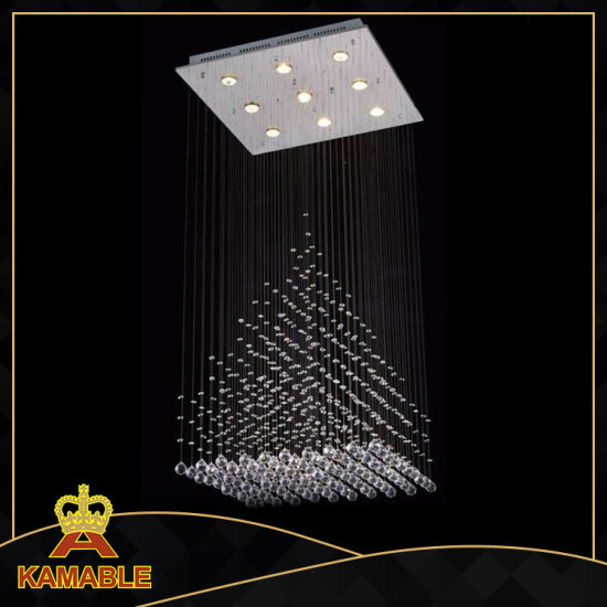 High Quality Stainless Steel Crystal Ceiling Lamp (KA66836-9) pictures & photos